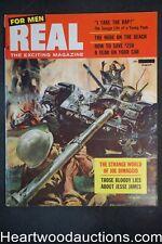 Real For Men Aug 1957 Norman Saunders, Raphael DeSoto, Jesse James - Ultra High
