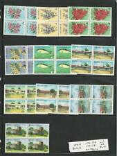 Barbuda, Postage Stamp, #170-175, 178-181 Block of 4 Mint NH, 1974,  JFZ