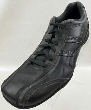 Skechers Oxfords Relaxed Step Lace Up Gray Leather Mens Shoes Size 10.5