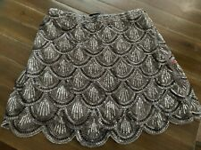 Verty Sequin Silver Skirt Size Large Women's New With Tags Clothing Fashion