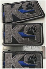 K9 THIN BLUE LINE Police Military Law Enforcement Service Dog Paw Patrol Patch