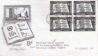United Nations NY43 - Enveloppe 1er jour 1955 10 th Anniversary Airmail 8c