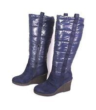 24S Sommerkind Winter Stiefel Boots Nylon blau wattiert Gr. 38 gefüttert Wedge