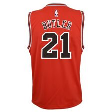 0fbe5b80 Jimmy Butler NBA Chicago Bulls Official Road Red Player Replica Jersey  Youth M