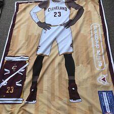 SET NBA LeBron James Body Kids Cavs Full Size Bedding Quilt 2 Standard Shams HTF