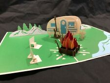 Father's Day Campsite 3D Pop Up Card Love Birthday Anniversary Greeting Card
