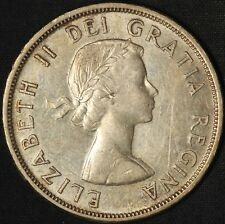 1958 Canada Silver Dollar BC Centenary Totem Pole - Free Shipping USA