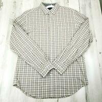 Banana Republic Mens Medium Luxe Flannel Slim Fit Plaid Button Down Shirt