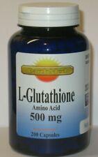 L-Glutathione Amino Acid 500 mg Serving  Free Form - Reduced 200 Capsules