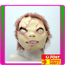 Chucky Doll Head Scary Halloween Party Facial Mask Latex Animals Cosplay Costume