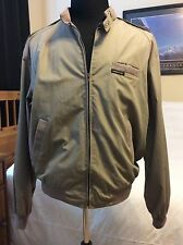 Vtg 80s MEMBERS ONLY JACKET Windbreaker Khaki Tan 42L Large Stranger Things