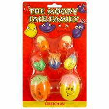 7 Kids Childrens Moody Face Family Stretchy Squashy Stress Balls Party Bag Toys!