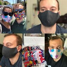 Fashionable Homemade Double Layer Fabric Face Mask Reversible