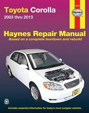 Toyota Corolla Workshop Service Repair Manual Haynes Chilton Book 2003 Thru 2013
