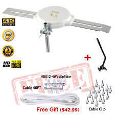 HD-8008 LAVA 360 Degrees HDTV Digital Amplified Outdoor Antenna with J Pole