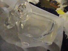 VANNES-LE-CHATEL CRYSTAL GLASS Ram Sheep PIPE HOLDER  EUC