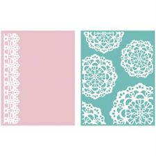 LIFESTYLE CRAFTS QUICKUTZ DOILY EMBOSSING FOLDERS    EF0017