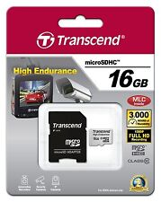 Transcend Information 16GB High Endurance microSD Card with Adapter