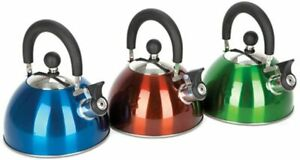 Summit Camping Stove Whistling Kettle Hob Gas Stainless Steel 2 Litre