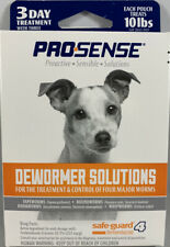 Prosense Safeguard Dog De-Wormer Solutions Small Dogs 3 Doses FREE SHIPPING