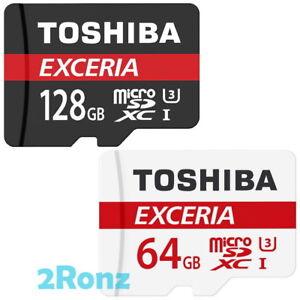 Toshiba Exceria 128GB 64GB 98MB/s Micro SDXC SDHC TF Memory Card A1 U3 M303 Lot