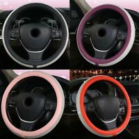 38CM Car Truck Steering Wheel PU Leather Cover Luxury Crystal Bling Rhinestone