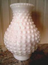 Vintage WHITE Hobnail Milk Glass Hurricane Lamp Shade Globe Chimney
