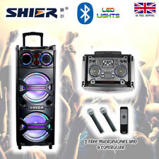 Digi 4u 2017 LED Senza Fili Bluetooth Altoparlante Per DJ Disco Party Karaoke con 2 MIC