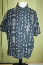 Vintage Quicksilver Men's Blue SS Button Front Shirt Size Small