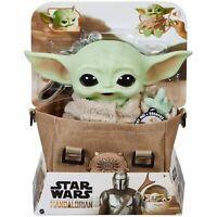 "Star Wars The Mandalorian Baby Yoda The Child 11"" Talking Plush with Bag"