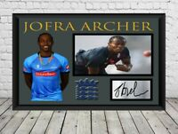 Jofra Archer England Sussex Cricket Canvas Print Wall Art Photo Picture 5 Sizes