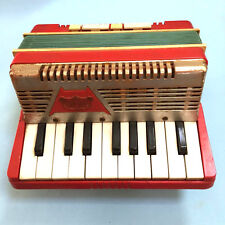Child's Vintage RED EMENEE KEYBOARD ACCORDIAN (1955) Musical Instruments TOYS