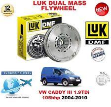 FOR VW CADDY III 1.9 TDi 105 BHP 2004-2010 ORIGINAL LUK DMF DUAL MASS FLYWHEEL