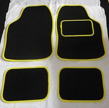 Yellow trim and Black car mats for VAUXHALL ASTRA CORSA INSIGNIA VECTRA MERIVA