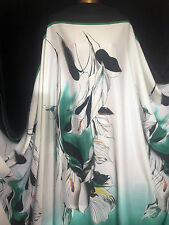 Powdertouch 100% polyester Large Floral Border Print Dress/Crafts Fabric*NEW*