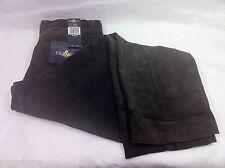 Oleg Cassini Brown Corduroy Casual Pants Cotton Blend Wide Leg Size 40 x 30 31