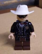 Lego The Lone Ranger Figur Western Cowboy Sheriff mit Augenbinde weißem Hut Neu