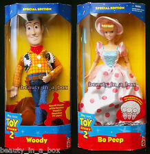 """Bo Peep Doll Woody Disney Toy Story 2  Separate Boxes NRFB Lot 2 VG """""""