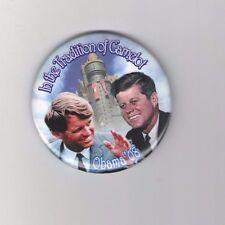 John F. Robert KENNEDY pin OBAMA 2008 CAMELOT tradition JFK RFK