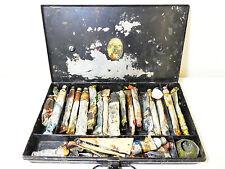 GRANDE Vintage Reeves & Sons artista pittura ad olio Tin Box Di Stoccaggio Tavolozza