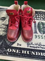 Caterpillar Martine Rose Exclusive Alex Red Lace Up Ankle Boots Sz 9 EUR 40