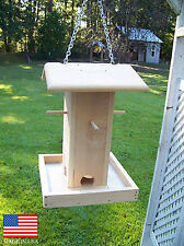 """17 1/2"""" Tall Cedar Wood Bird Feeder / Perch Feeder / Bird Feeder"""