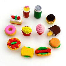 Neu Lebensmittel Rubber Stifte Radiergummi Briefpapier Neuheit Kinder Geschenk