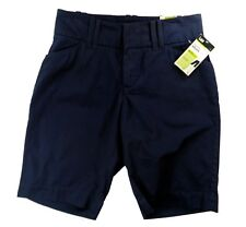 Lee Womens Shorts 6 Bermuda Walking Natural Fit Navy Blue 100% Cotton Casual New