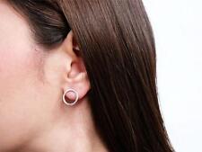 Sovats 925 Solid Sterling Silver Ear Stud Earrings Geometric Circle Stud Crawler