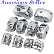 USA 10PCS Hand Control Switch Housing Caps For Harley Electra Street Glide 96-13