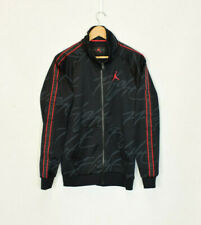 Vintage Nike Air Jordan Flight Black Track Jacket Small
