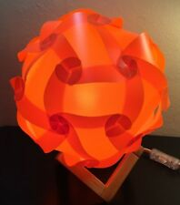 Ambient Jigsaw Puzzle Lamp/Light Kit (Orange/Small)-Hand crafted by a veteran