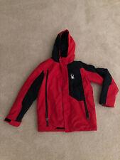 Spyder Full Zip Front Placket Flyte Ski Jacket in Red/Black -  Youth M 10/12
