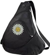 Pickleball Paddle Sling Bag - Daisy Ball - Black Embroidered Bag - FREE NAME